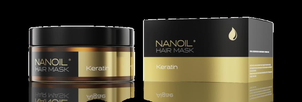 Haarmaske mit Keratin (Nanoil)